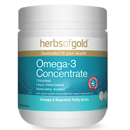 Herbs of Gold Omega-3 Concentrate 200caps Fish Oils | HERBS OF GOLD