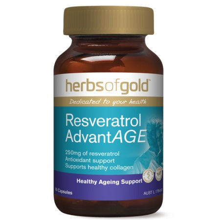 Herbs of Gold Resveratrol Advantage 60vcaps | HERBS OF GOLD