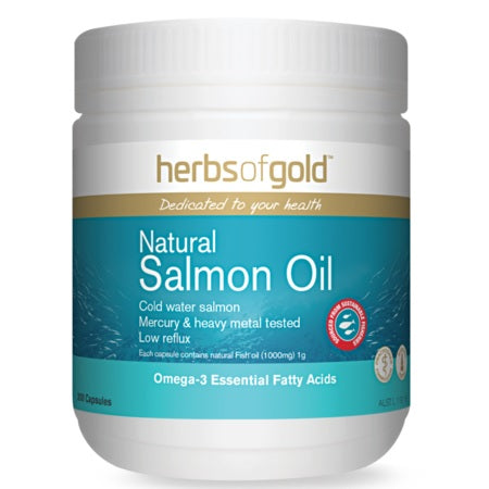 Herbs of Gold Natural Salmon Oil 400caps Fish Oils | HERBS OF GOLD