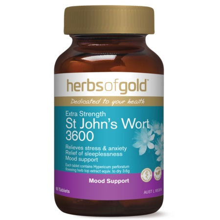 Herbs of Gold Extra Strength St Johns Wort 3600 30tabs St John's Wort | HERBS OF GOLD