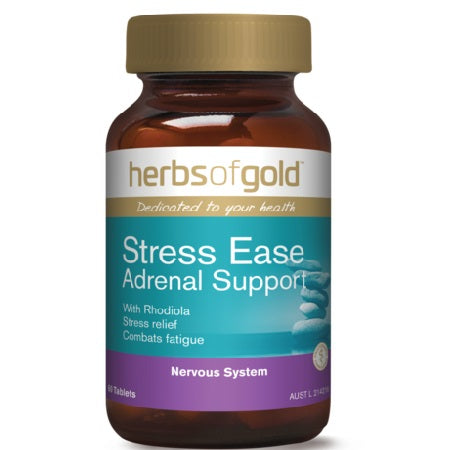 STRESS EASE ADRENAL SUPPORT 60Tabs complex | HERBS OF GOLD