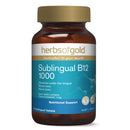 SUBLINGUAL B12 1000 75Tabs B12 | HERBS OF GOLD