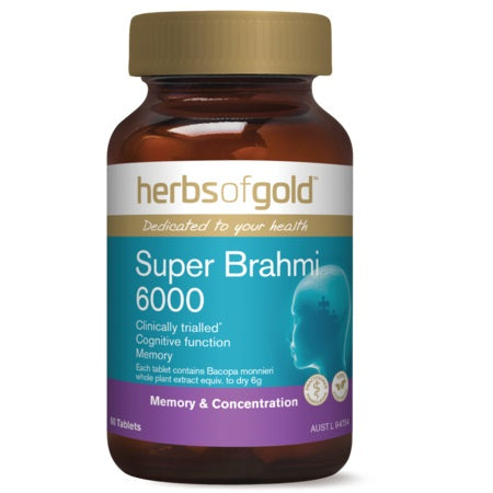 Herbs of Gold Super Brahmi 6000 60tabs Bacopa | HERBS OF GOLD