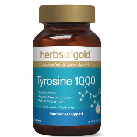 Herbs of Gold Tyrosine 1000 60tabs | HERBS OF GOLD