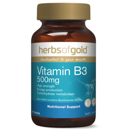 Herbs of Gold Vitamin B3 500mg 60tabs B3 | HERBS OF GOLD