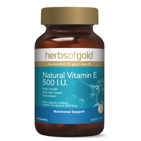 Herbs of Gold Natural Vitamin E 500IU 100caps Vitamin E | HERBS OF GOLD
