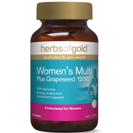Herbs of Gold Women's Multi Plus Grapeseed 12000 90tabs | HERBS OF GOLD