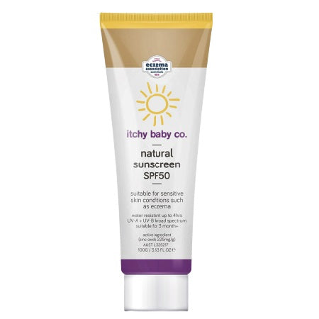Itchy Baby Co Natural Sunscreen Spf50+ 100g
