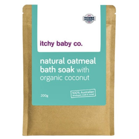 Itchy Baby Co Natural Oatmeal Bath Soak With Organic Coconut 200g