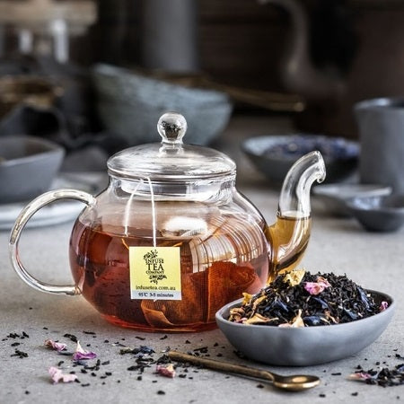 Infuse Tea French Earl Grey With Rose Petals Loose Leaf Tea 100g | INFUSE TEA COMPANY
