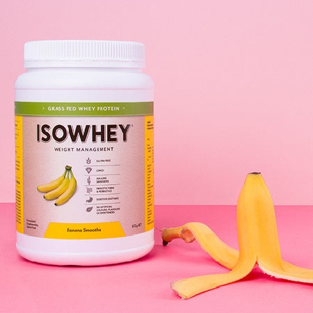 Isowhey Weight Management Grass Fed Whey Protein Banana Smoothie 672g | ISOWHEY WEIGHT MANAGEMENT
