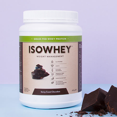 GRASS FED WHEY PROTEIN IVORY COAST CHOCOLATE 672g | ISOWHEY WEIGHT MANAGEMENT