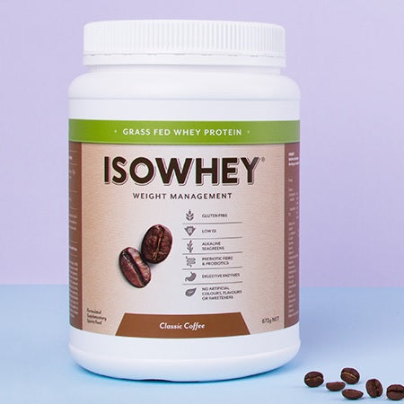 Isowhey Weight Management Grass Fed Whey Protein Classic Coffee 672g | ISOWHEY WEIGHT MANAGEMENT