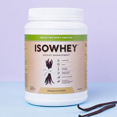 GRASS FED WHEY PROTEIN MADAGASCAN VANILLA 448g | ISOWHEY WEIGHT MANAGEMENT