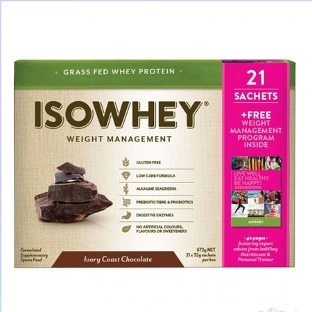 Isowhey Weight Management Grass Fed Whey Protein Ivory Coast 21 X 32g Sch Protein Powder | ISOWHEY WEIGHT MANAGEMENT