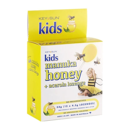 Key Sun Kids Manuka Honey & Vitamin C Lozenge On A Stick 12Pk