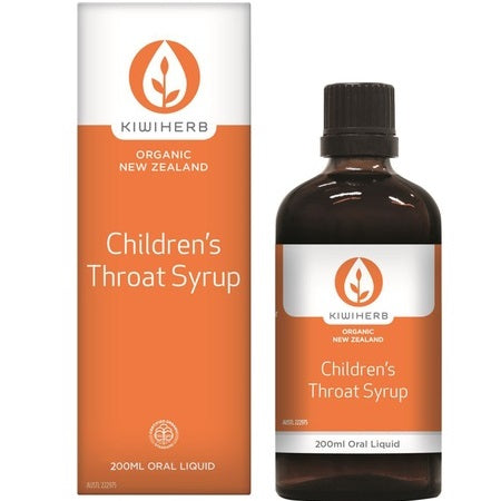 Kiwiherb Childrens Throat Syrup 200ml Echinacea | KIWIHERB