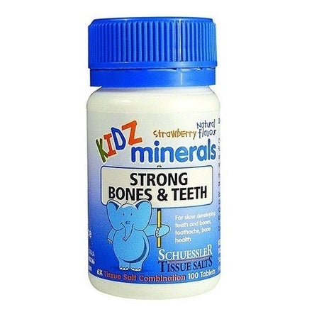 Schuessler Tissue Salts Kidz Minerals Strong Bones & Teeth 100Tabs | SCHUESSLER TISSUE SALTS