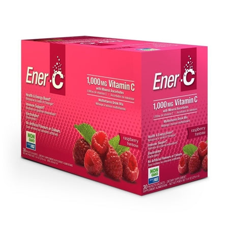 Ener-C Raspberry Effervescent Multivitamin Drink 12Sch