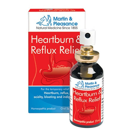 Martin And Pleasance Heartburn & Reflux Relief Spray 25ml | M&P HOMEOPATHIC COMPLEX