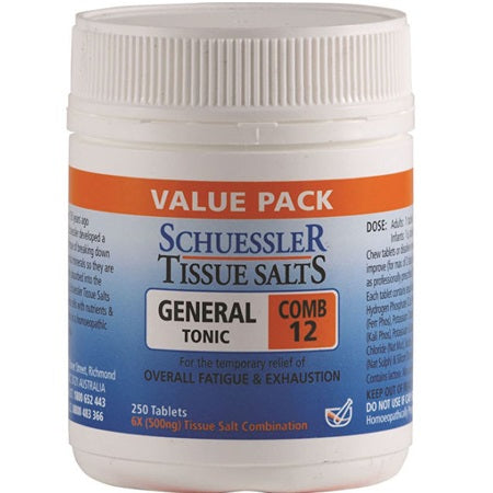comb 12 (general tonic) 250tabs | SCHUESSLER TISSUE SALTS