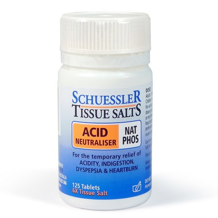 Schuessler Tissue Salts Nat Phos 6X (Acid Neutraliser) 125Tabs | SCHUESSLER TISSUE SALTS