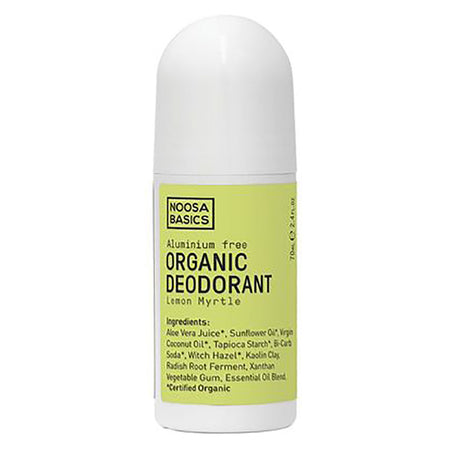 organic deodorant roll on lemon myrtle 70ml | NOOSA BASICS