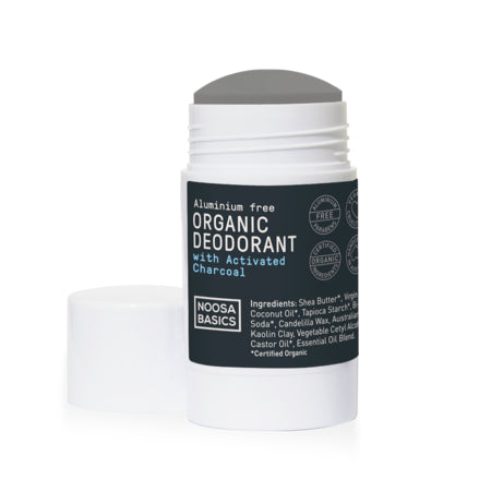 organic deodorant stick activated charcoal 60g | NOOSA BASICS