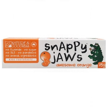 Nature's Goodness Snappy Jaws Orange Toothpaste 75g | NATURES GOODNESS