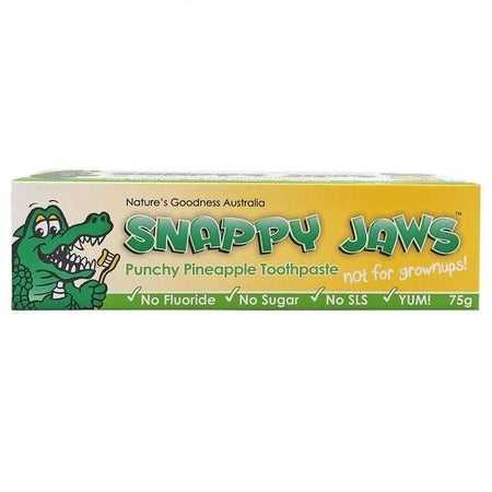 Nature's Goodness Snappy Jaws Pineapple Toothpaste 75g | NATURES GOODNESS