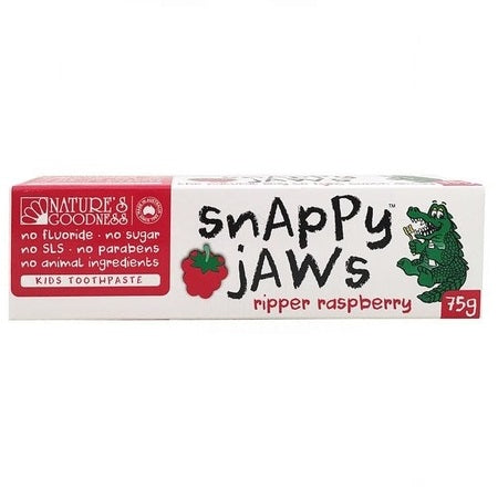 snappy jaws raspberry toothpaste 75g | NATURES GOODNESS