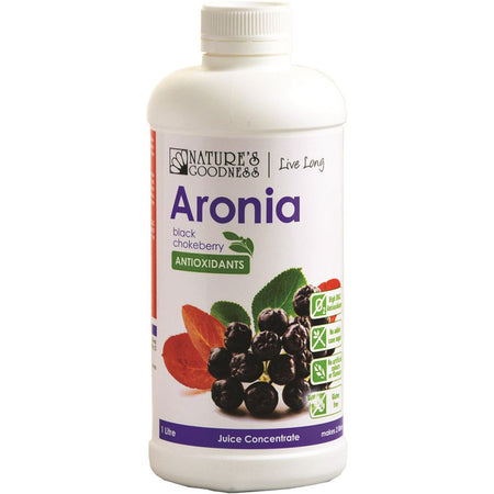 Nature's Goodness Aronia Juice Concentrate Chokeberry 1L | NATURES GOODNESS
