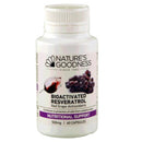 Nature's Goodness Bioactivated Resveratrol 500mg 60Caps Complex