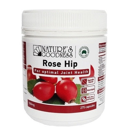 Rosehip Joint Care 500mg 275Caps Rose Hips (Rosa Canina)