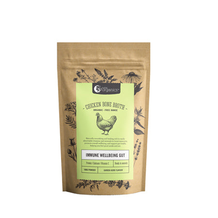 NUTRA ORGANICS CHICKEN BONE BROTH POWDER GARDEN HERB 100g | NUTRA ORGANICS