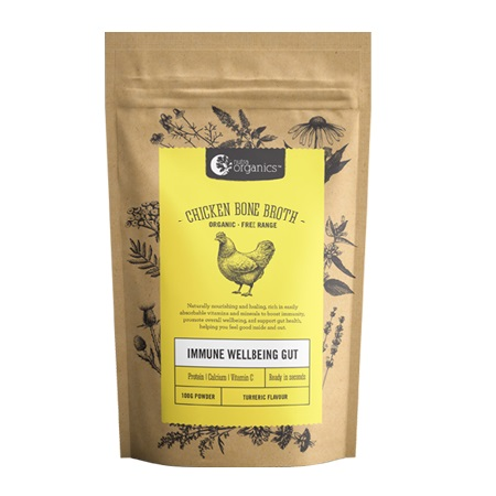 NUTRA ORGANICS CHICKEN BONE BROTH POWDER TURMERIC 100g | NUTRA ORGANICS