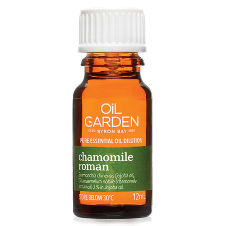 Oil Garden Chamomile Roman Essential Oil 3% In Jojoba 12ml | THE OIL GARDEN