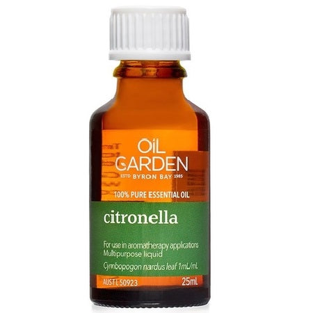 Oil Garden Citronella Essential Oil 25ml | THE OIL GARDEN