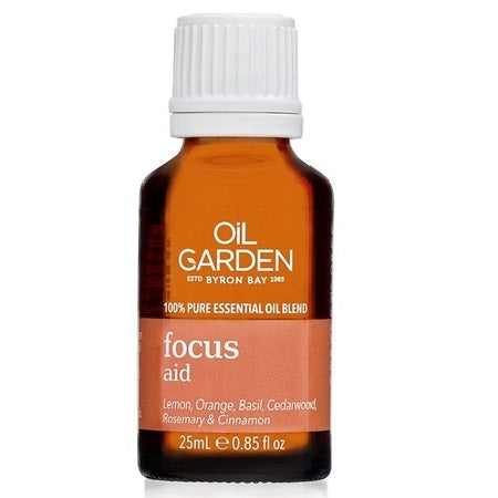 Oil Garden Focus Aid Essential Oil Blend 25ml (Bx6) | THE OIL GARDEN