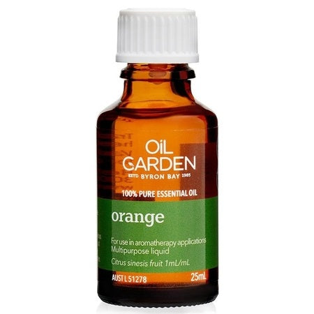 ORANGE ESSENTIAL OIL 25ml | THE OIL GARDEN
