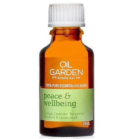 peace & wellbeing essential oil blend 25ml | THE OIL GARDEN