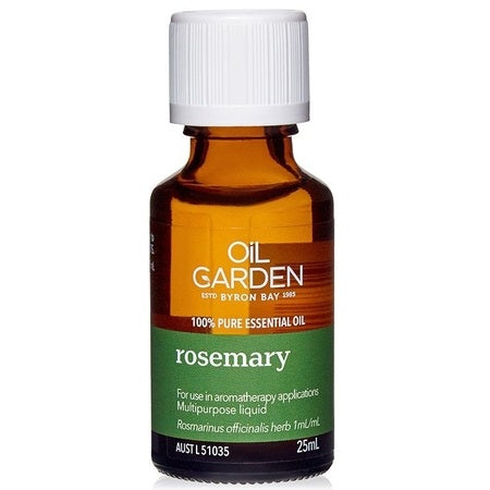 rosemary essential oil 25ml | THE OIL GARDEN