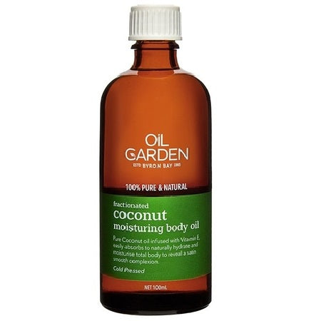 fractionated coconut moisturising body oil 100ml | THE OIL GARDEN