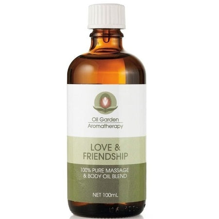 Oil Garden Love & Friendship Massage Oil Blend 100ml | THE OIL GARDEN