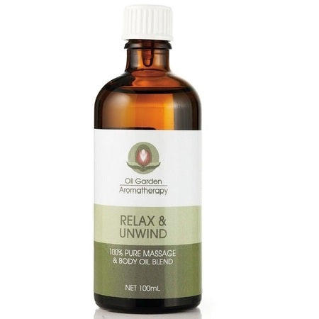 relax & unwind massage oil blend 100ml | THE OIL GARDEN