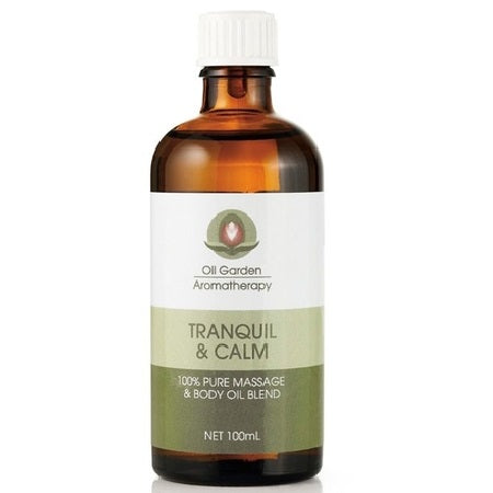 Oil Garden Tranquil & Calm Massage Oil Blend 100ml | THE OIL GARDEN
