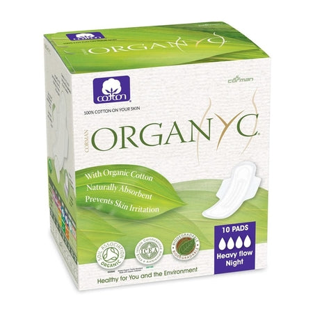 ORGANIC ULTRA THIN PADS WINGS HEAVY FLOW 10pk | ORGANYC