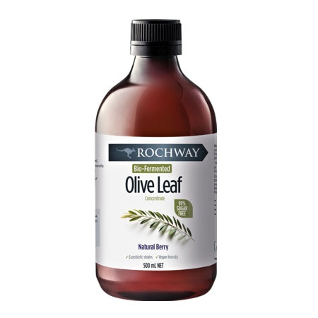 Rochway Bio Fermented Olive Leaf Concentrate Nat Berry 500ml *Long Term Oos*