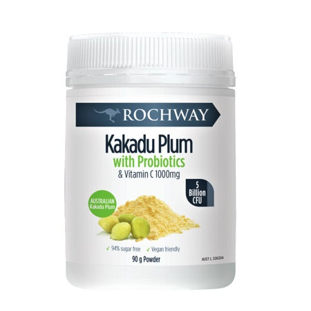 Rochway Kakadu Plum With Probiotics & Vitamin C 1000Mg Powder 90g