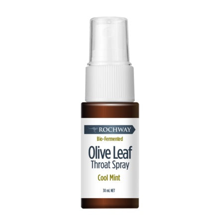 Rochway Bio Fermented Olive Leaf Throat Spray Cool Mint 30ml *Temp Unavailable*